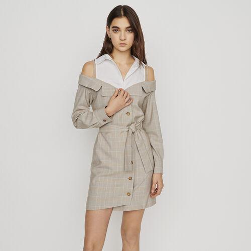 Vestido corto trompe l'œil : New in : Colección Verano color CARREAUX