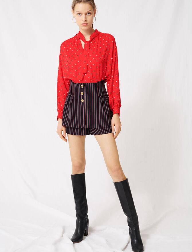 Short con efecto trampantojo de rayas - Faldas y shorts - MAJE