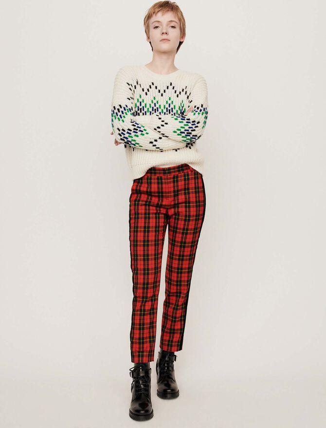 Pantalón de cuadros - Pantalones y Jeans - MAJE
