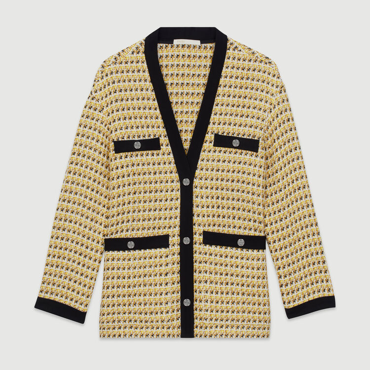 Chaqueta de Tweed y Lurex : Chaquetas color Amarillo
