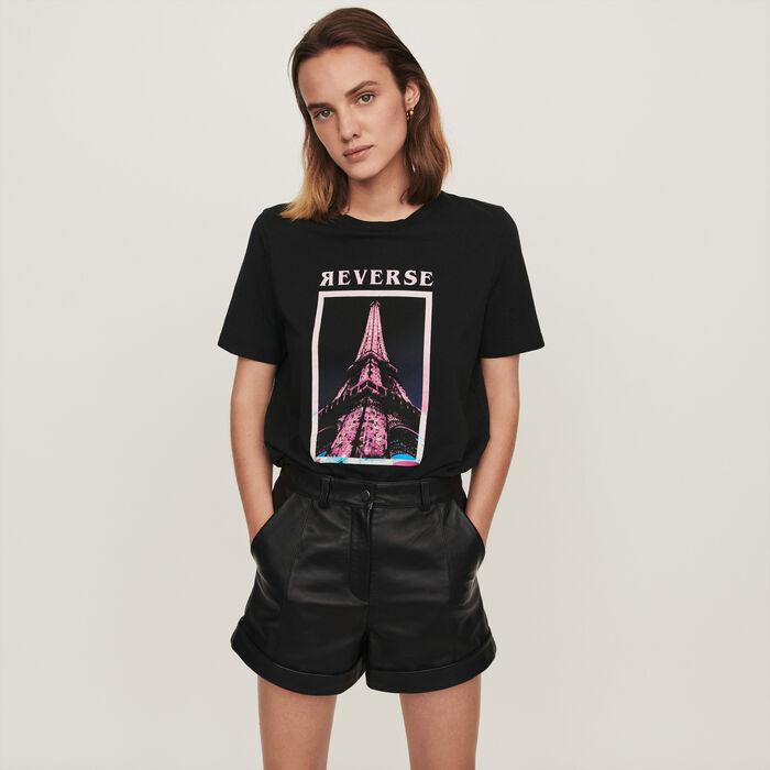 Camiseta decorada : T-Shirts color Negro