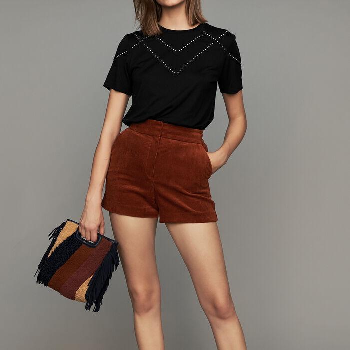 Short de pana : Faldas y shorts color Caramelo