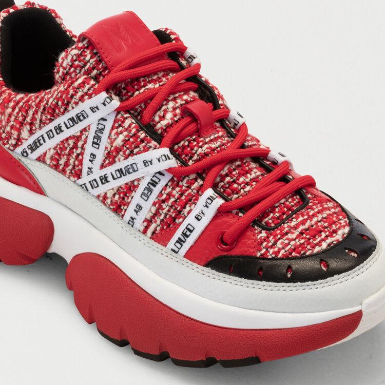 Zapatillas deportivas en tweed W20 : Sneakers color Rojo