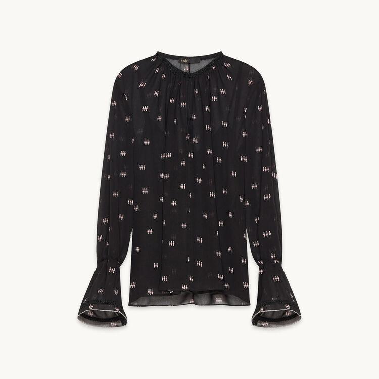 Blusa estampada con pasamanería : Colección color