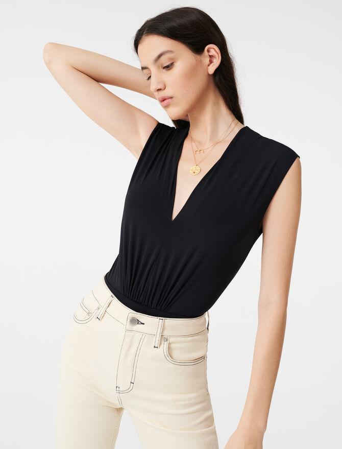 Body drapeado elástico - T-Shirts - MAJE