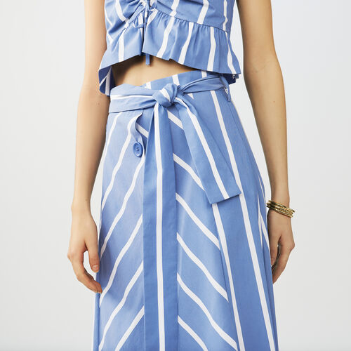 Falda larga de rayas : Twisted stripes color Azul