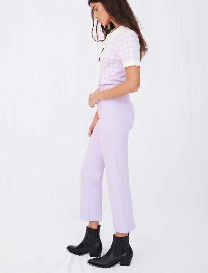 Vaquero recto de colores con costuras - Pantalones y Jeans - MAJE