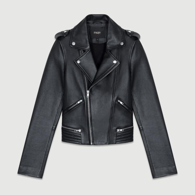 Cazadora de cuero estilo Perfecto : Cazadoras color Negro