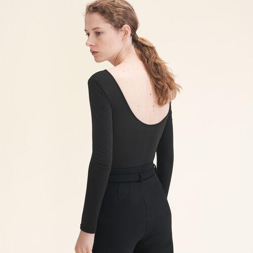 Body de punto de manga larga : Esenciales color Negro