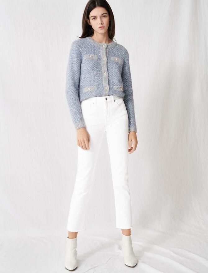 Vaquero blanco recto - Pantalones y Jeans - MAJE