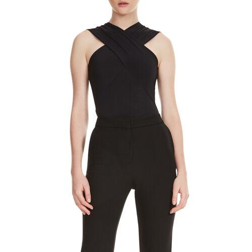 Body con escote cruzado : Camisetas color Negro