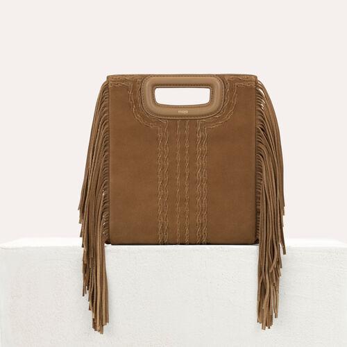 Bolso M en gamuza trenzado : Bolsos M color Camel