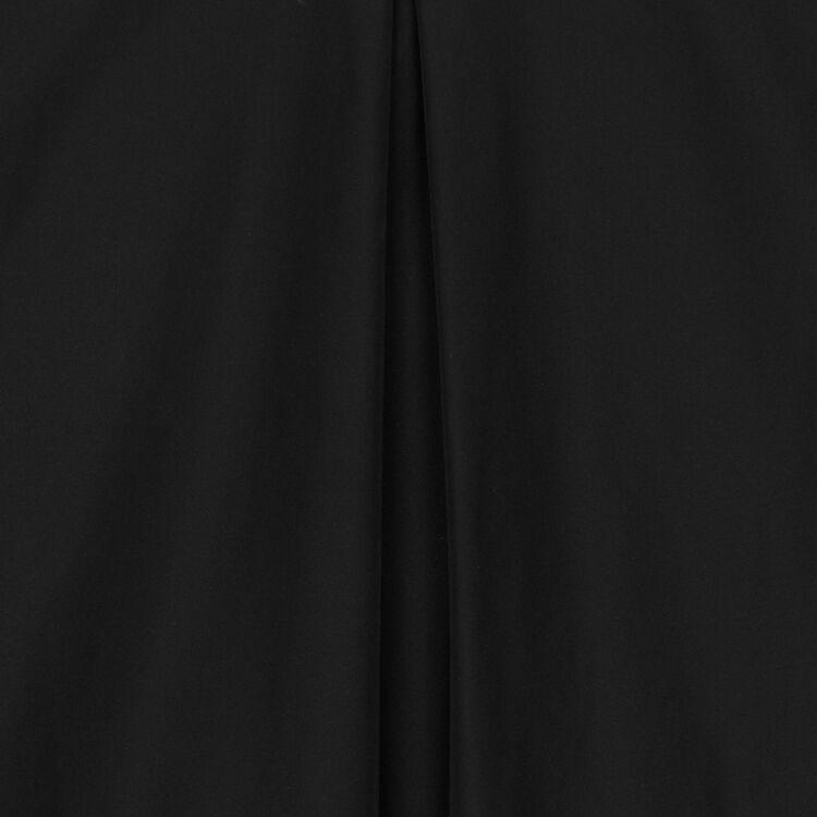 Top con hombreras de tafetán : Tops color Negro