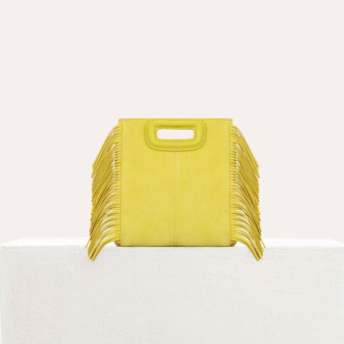 Mini bolso M de cuero de cordero : M Mini color Amarillo
