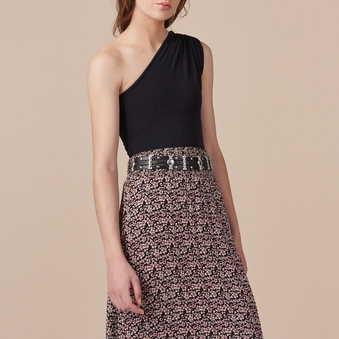 Falda larga asimétrica estampada -  - MAJE