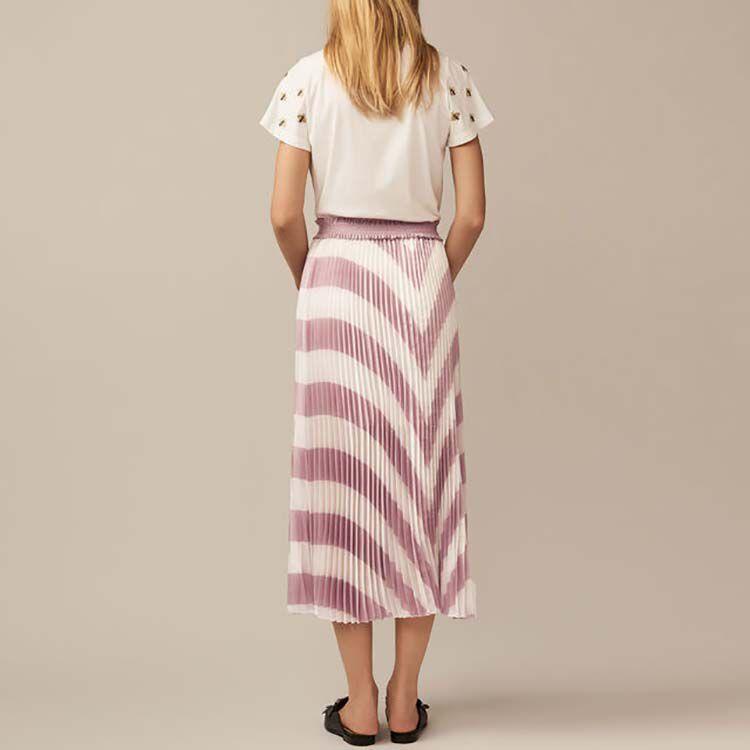 Falda larga plisada : Faldas y shorts color LILA