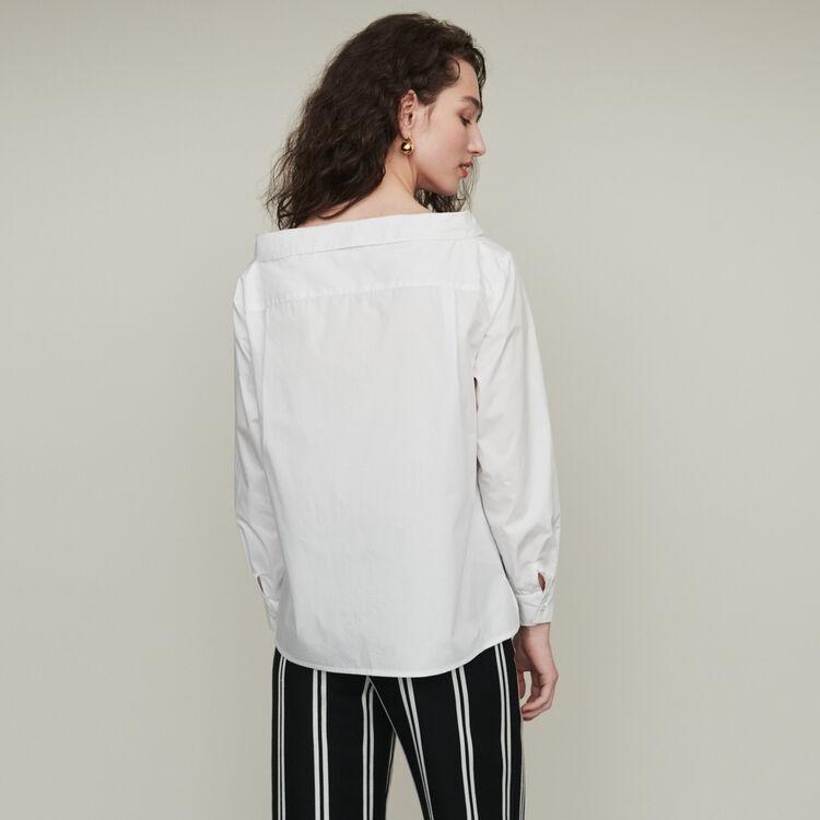 Top con hombros descubiertos : Tops y Camisas color Crudo