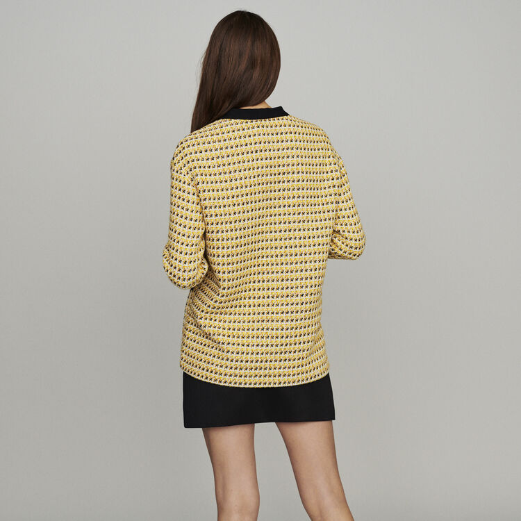 Chaqueta de Tweed y Lurex : Chaquetas color Amarillo