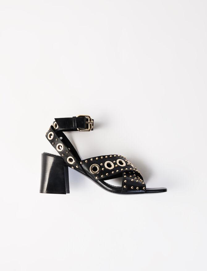 Sandalias de tacón con tachuelas -  - MAJE