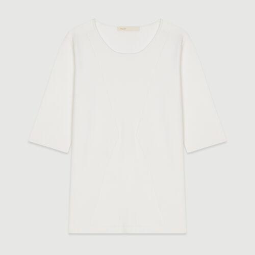 Suéter de mangas cortas de punto : Jerseys y cárdigans color Blanco