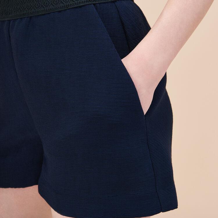 Short corto de tela de otomán : Faldas y shorts color Azul Marino