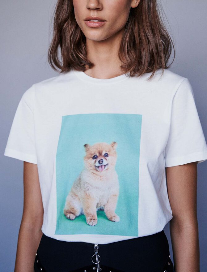 Camiseta estampada - T-Shirts - MAJE