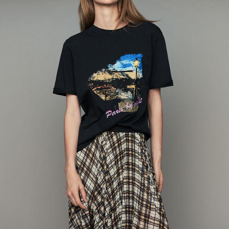 Camiseta oversize de algodón : T-Shirts color Negro