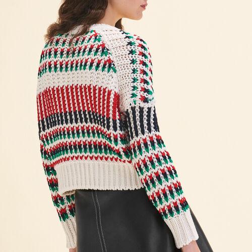 Jersey de punto de fantasía multicolor : Malla color Multicolor