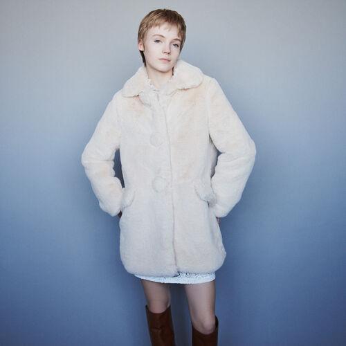 Faux fur coat : Campaña FW19 color Nude