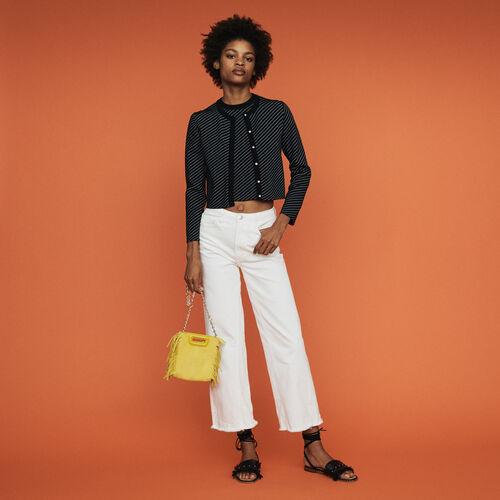 Cárdigan corto de rayas : Jerseys y cárdigans color Rayas