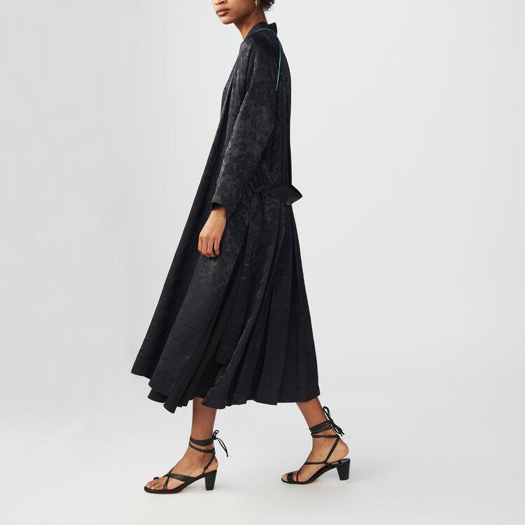 Chaqueta larga tipo Kimono de Jacquard : Chaquetas color Negro