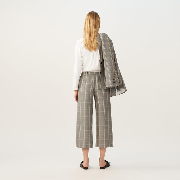 Pantalón ancho a cuadros : Pantalones color CARREAUX