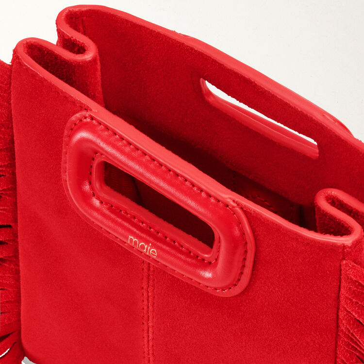 Mini-bolso M en cuero gamuza : M Mini color Rojo