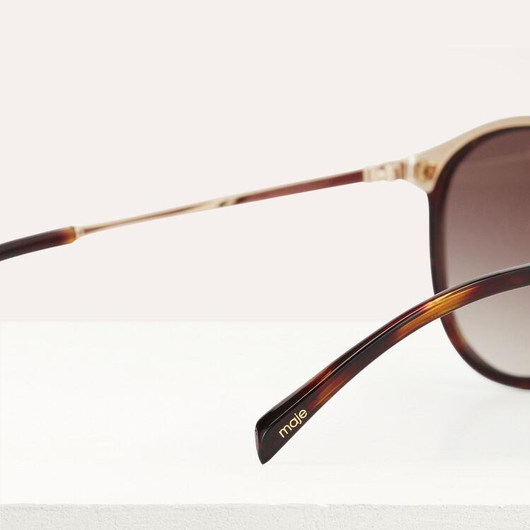 Lunettes de soleil en acétate et métal : Gafas color Ecaille