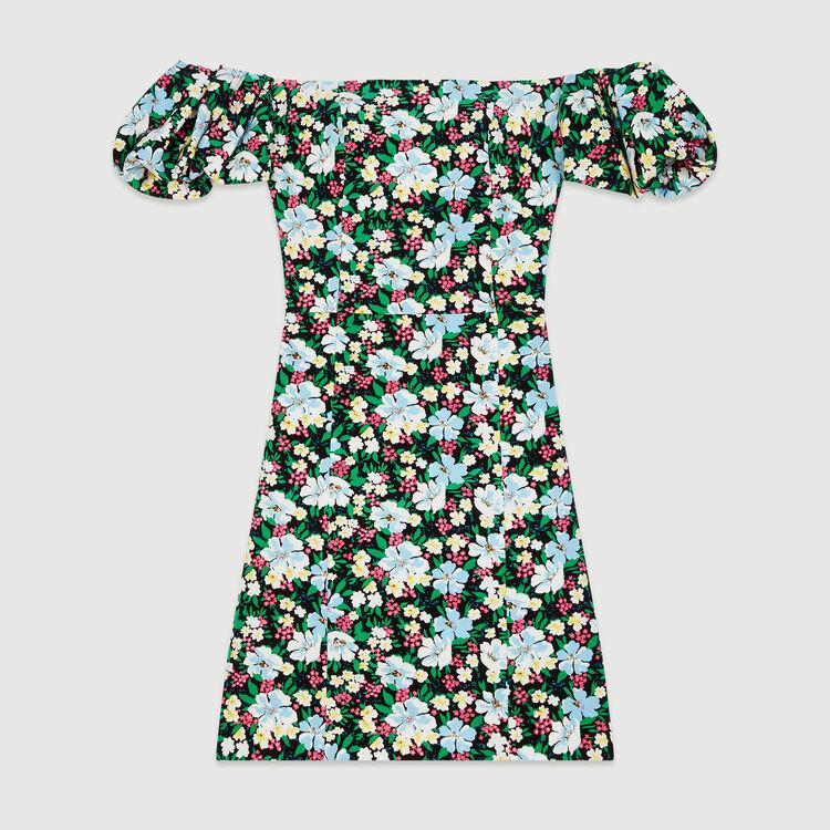 Vestido sin tirantes estampado : Vestidos color Estampado