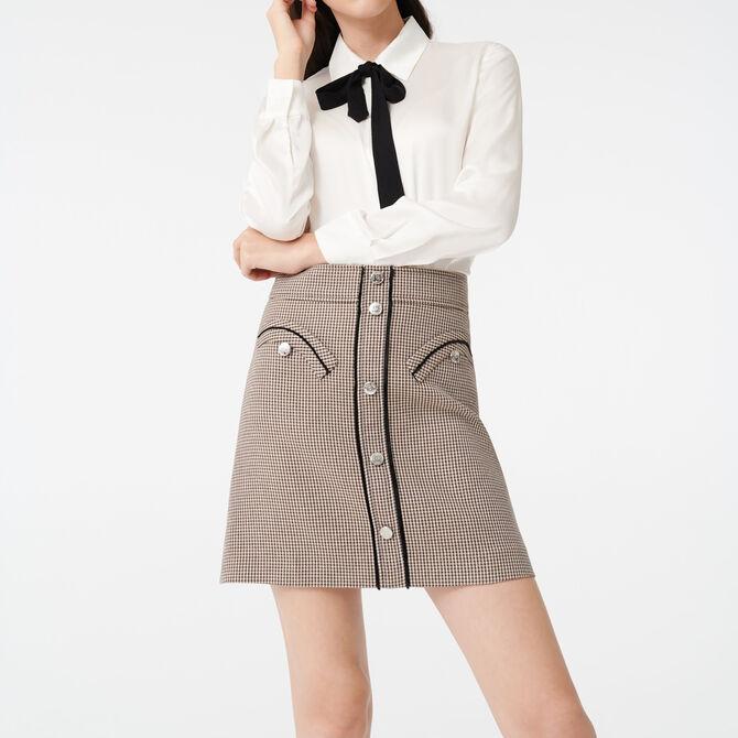 Blusa de raso con corbata a contraste - Ver todo - MAJE
