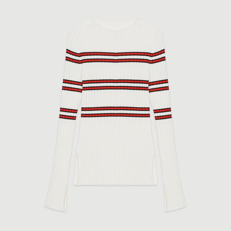 Jersey fino de punto tubo de rayas : Jerseys y cárdigans color Rayas