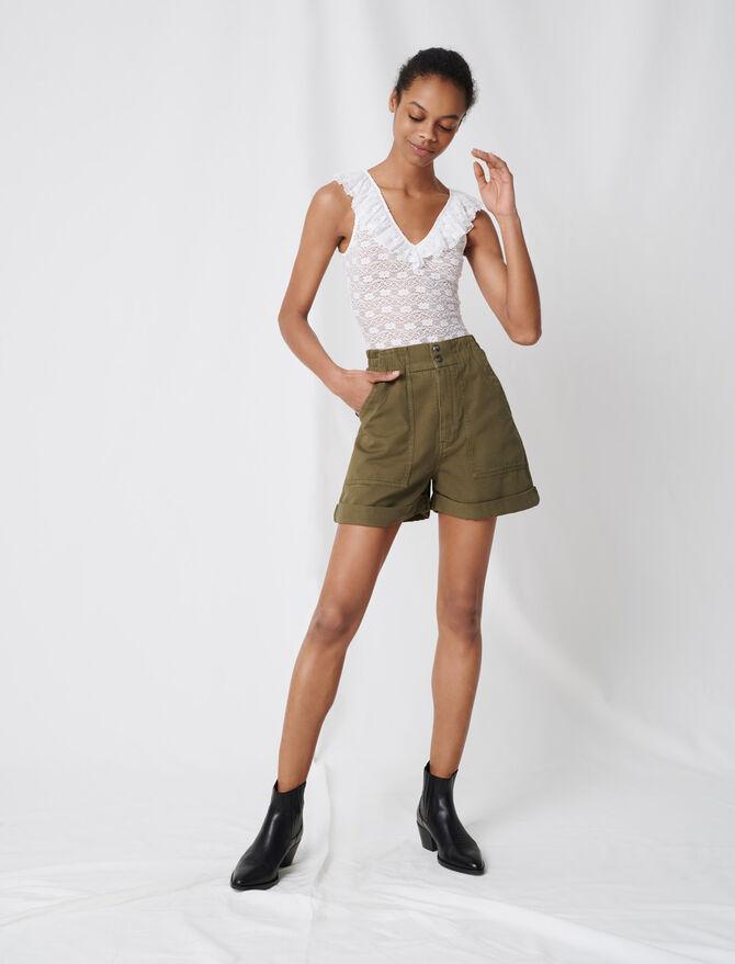 Short caqui de algodón - Faldas y shorts - MAJE
