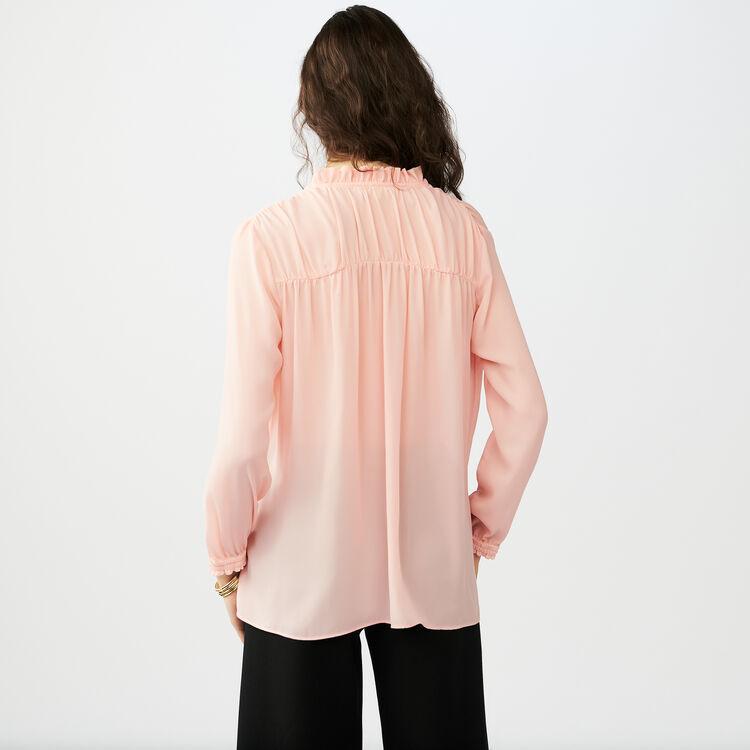 Blouse shirt with drawstring : Camisas color Rosa