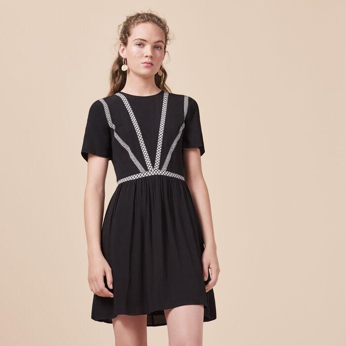 Vestido corto de crepé - -30% - MAJE