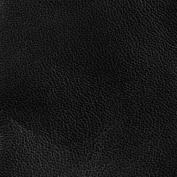 Cesto de cuero con flecos : Otras M color Negro
