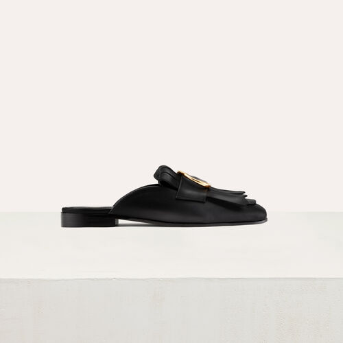 Mocassin slipper with buckle : Zapatos color Negro