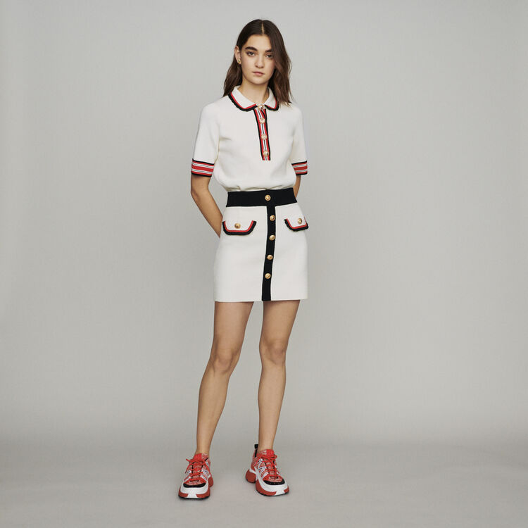 Falda corta de punto cerrado : Faldas y shorts color ECRU