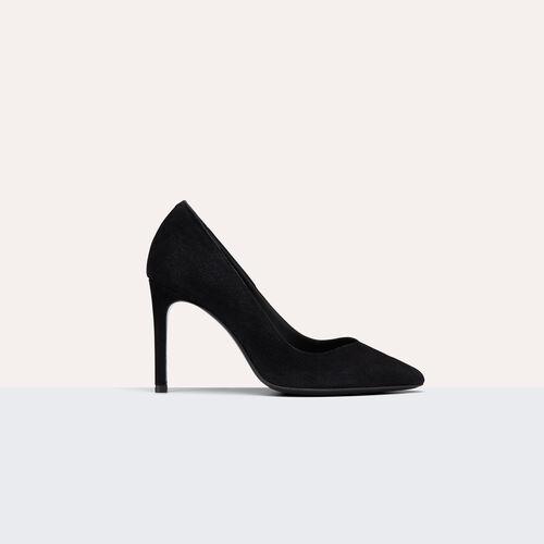 Zapato salón alto de ante : Accesorios color Negro
