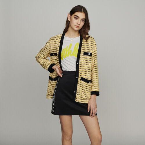 Chaqueta de Tweed y Lurex : New in : Colección Verano color Amarillo