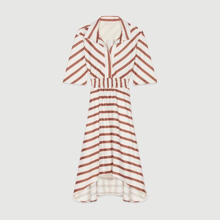 Vestido-camisero largo de rayas : Vestidos color Rayas
