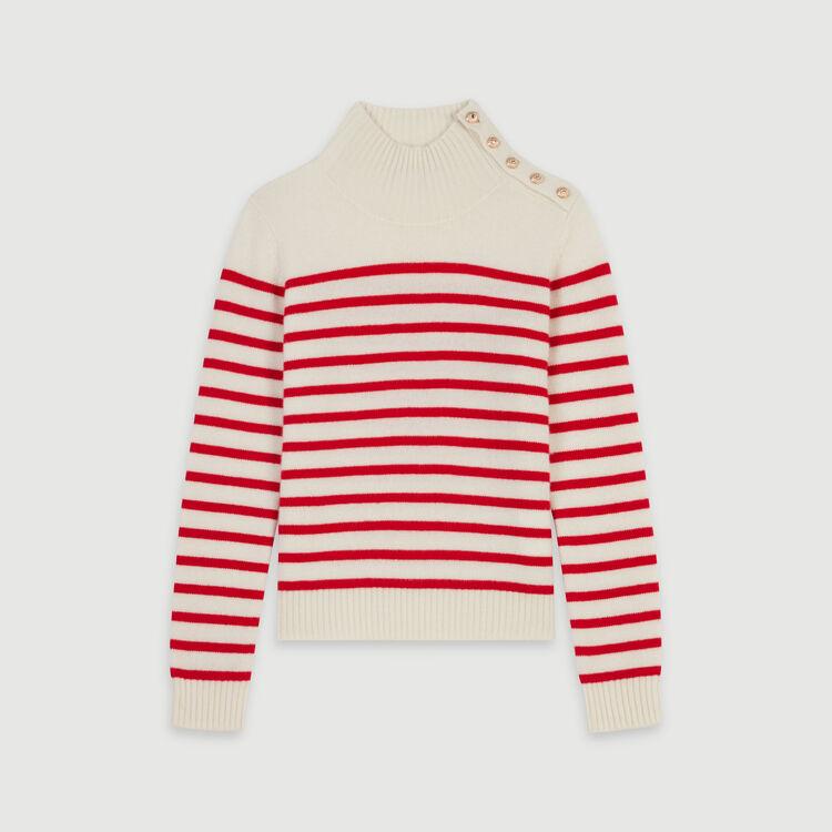 Jersey tipo marinera en cachemir : Colección invierno color Crudo