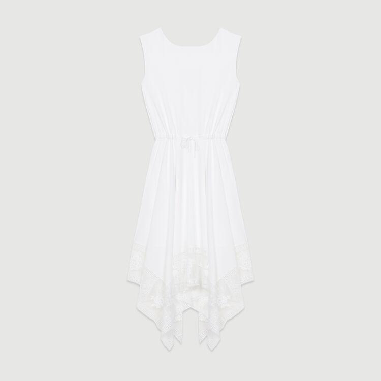 Vestido largo sin mangas con encaje : Nueva Colección color Blanco