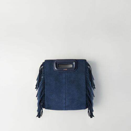 Bolso M mini de gamuza con cadena : M Mini color Azul Marino