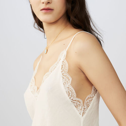 Lace top : Tops color Negro